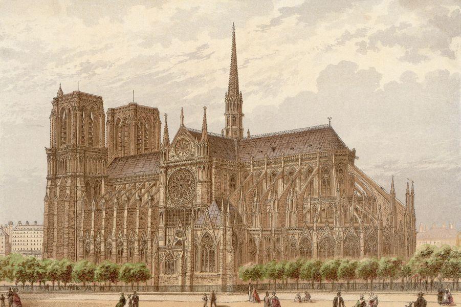 Notre Dame de Paris en 1870.