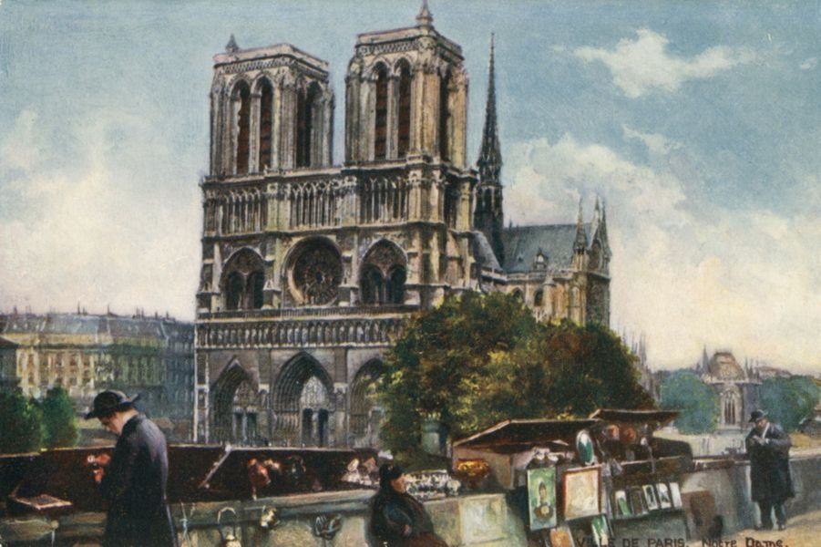 Notre Dame de Paris en 1906.