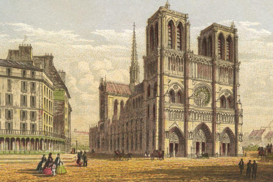 Notre Dame de Paris en 1855.