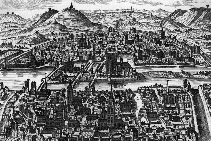 Vue de Paris en 1600.