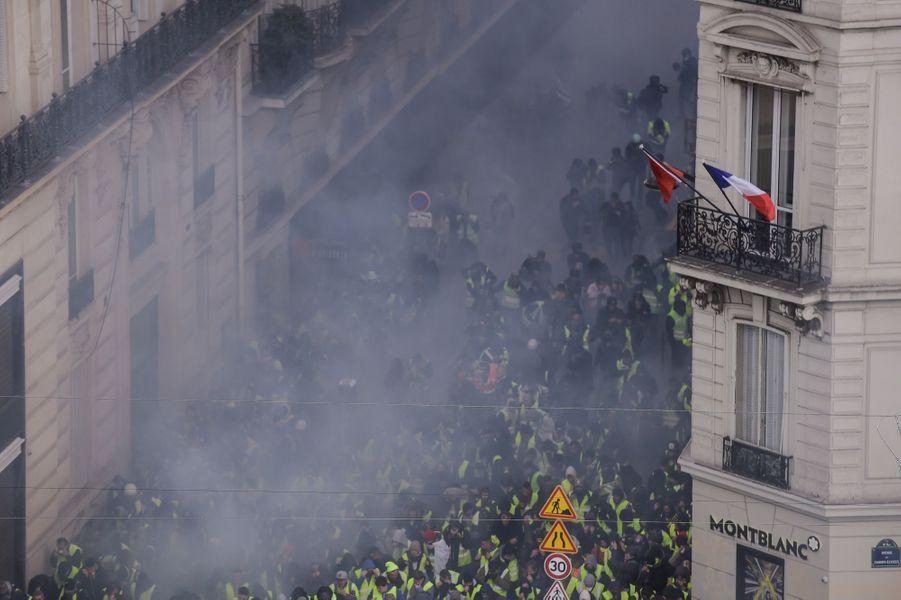 Violences en marge de la manifestation des Gilets Jaunes à Paris, le 8 décembre 2018.