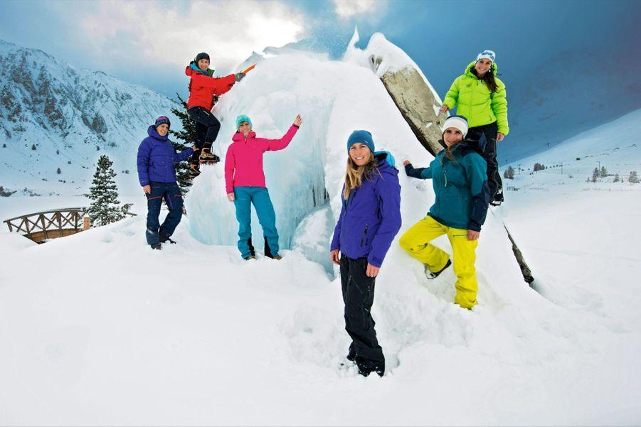 De g. à dr., Julia Virat, Marine Clarys, Vérane Bonneuil, Fleur Fouque, Lise Billon et Fanny Schmutz, à Tignes pour le rassemblement des guides de montagne, le 8 décembre