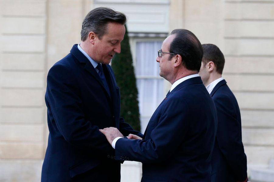 David Cameron et François Hollande