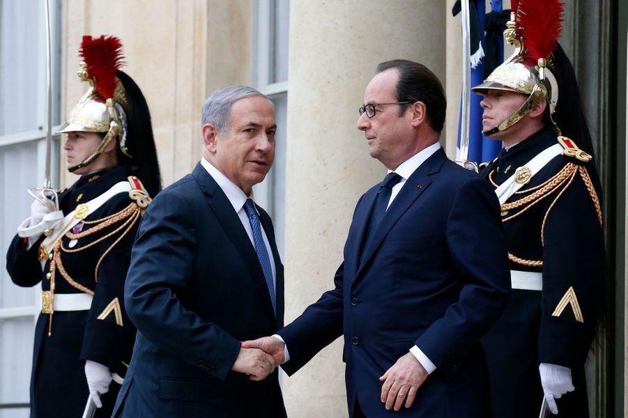 François Hollande et Benjamin Netanyahou