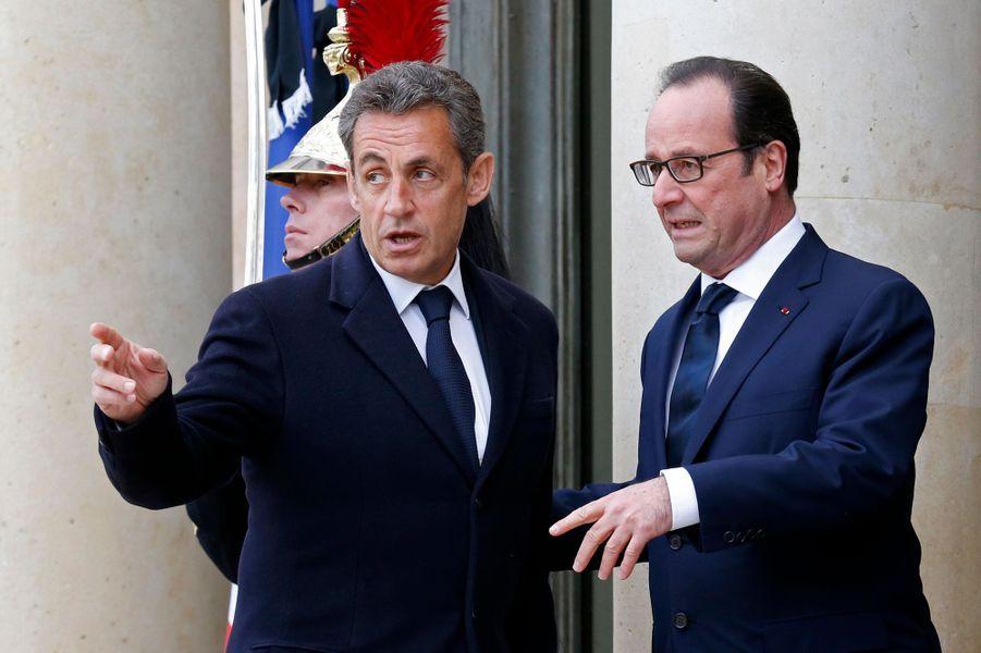 François Hollande et Nicolas Sarkozy