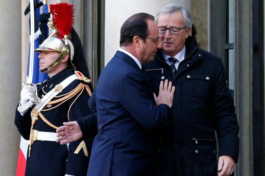 Jean-Claude Juncker et François Hollande