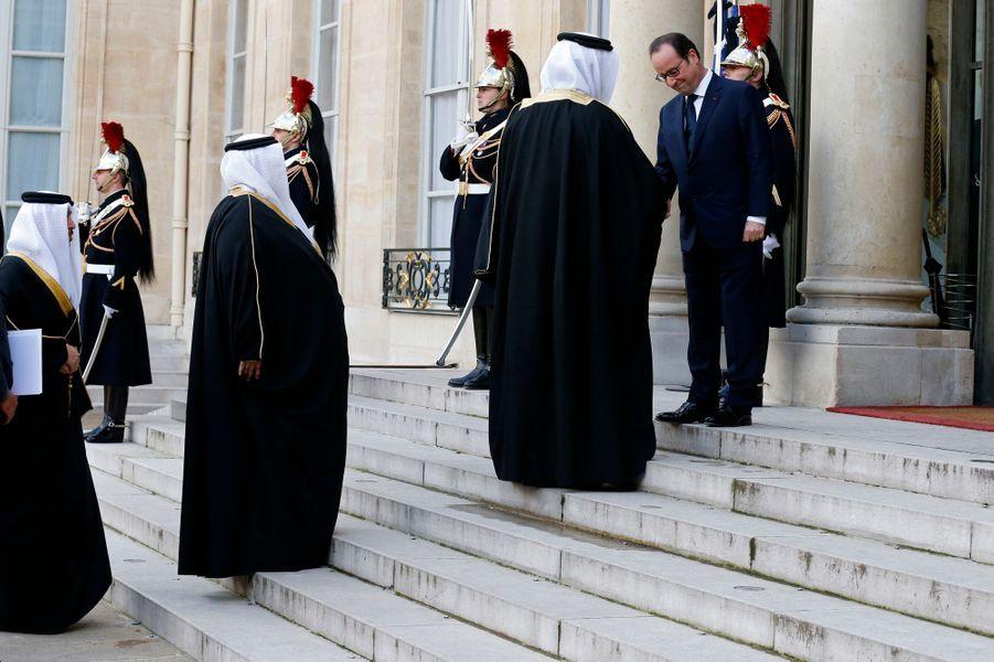 La délégation qatarie reçue à l'Elysée
