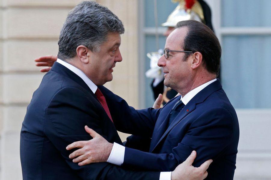 Le président ukrainien Petro Poroshenko et François Hollande
