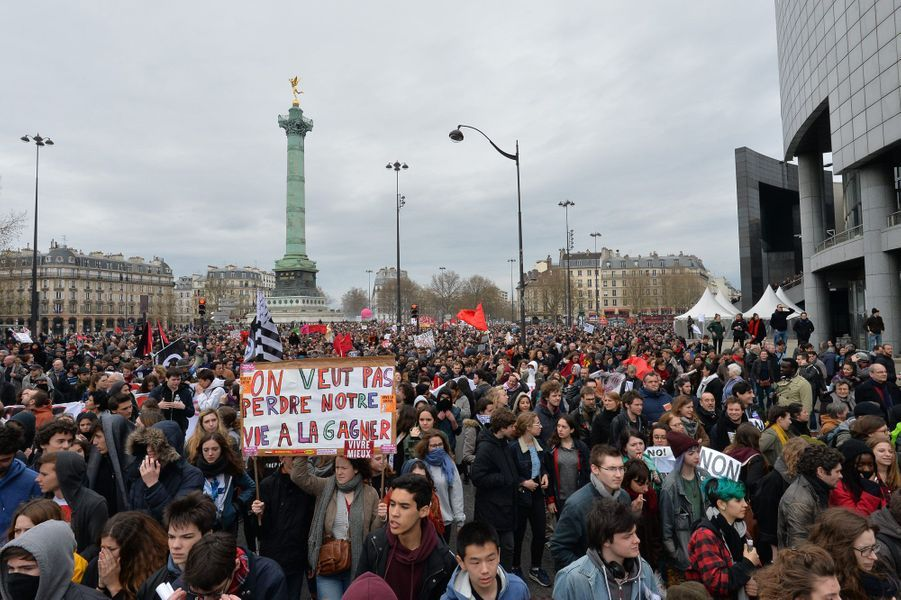 Place de la Bastille, à Paris