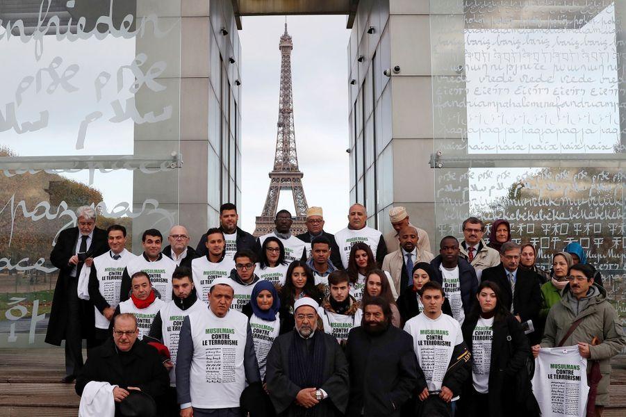 Les jeunes musulmans contre le terrorisme, le 13 novembre 2017 au Mur pour la Paix