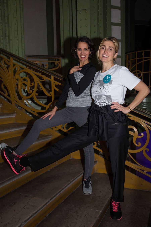 L'humoriste Sophia Aram et l'actrice Julie Gayet.