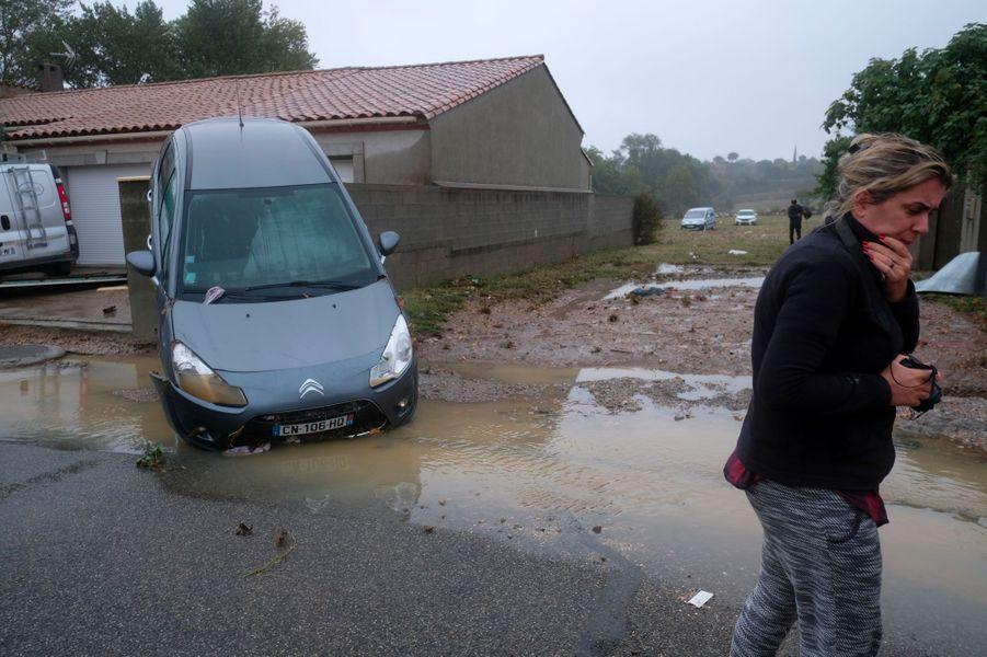 AVillegailhenc, dans l'Aude, lundi.