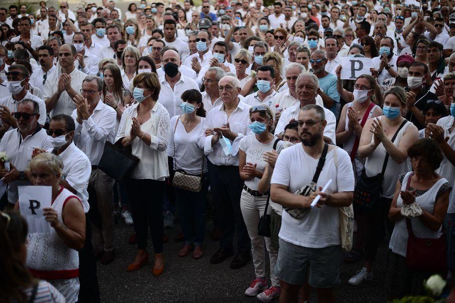 La marche blanche en l'honneur dePhilippe Monguillot, mercredi à Bayonne