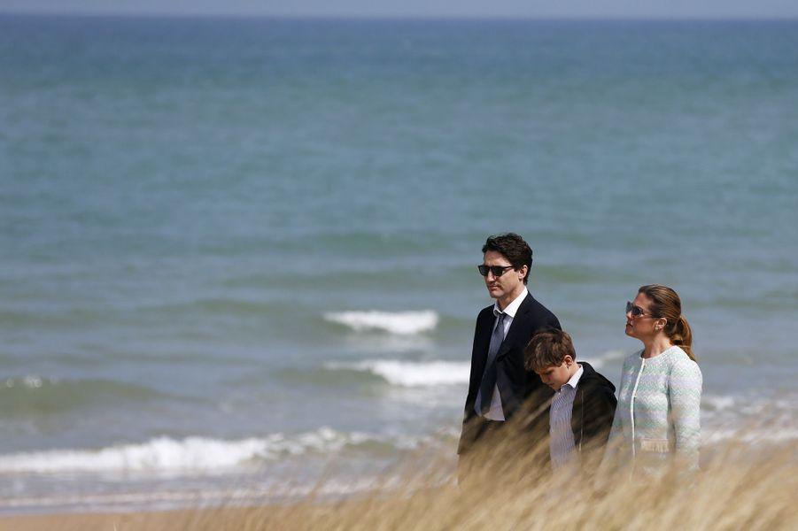 Justin Trudeau en famille à Juno Beach.