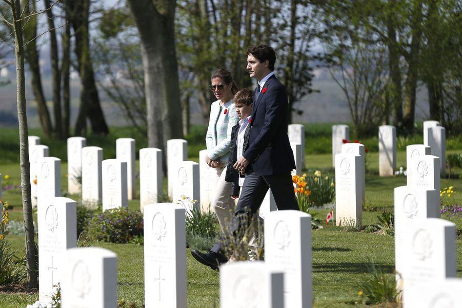 Au cimetière deBény-sur-mer.