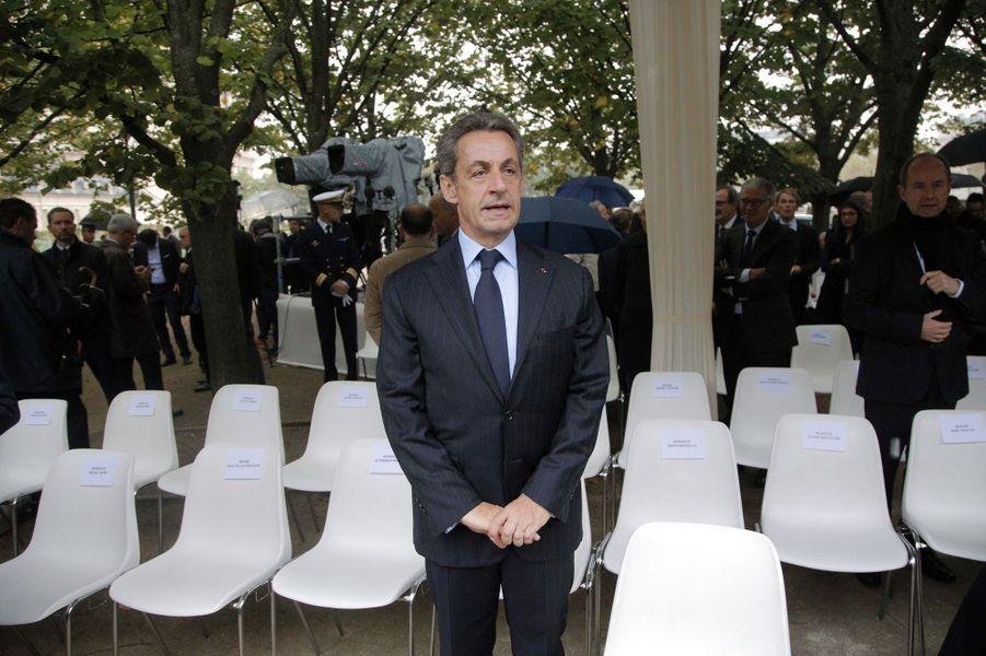 Nicolas Sarkozy àla cérémonie d'hommage aux victimes du terrorisme aux Invalides, le 19 septembre 2016.