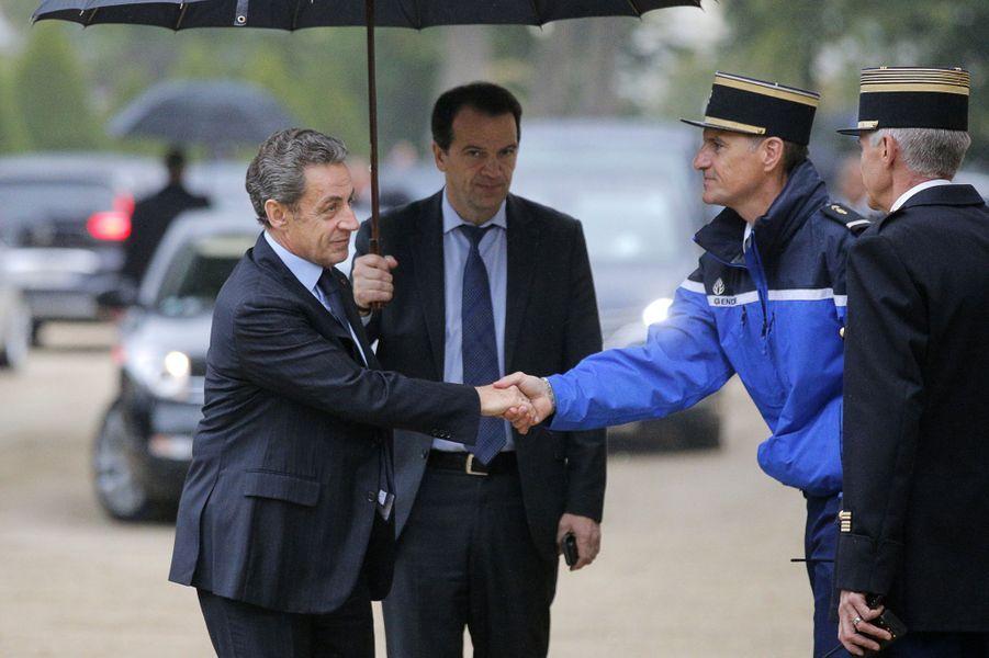 Nicolas Sarkozyàla cérémonie d'hommage aux victimes du terrorisme aux Invalides, le 19 septembre 2016.