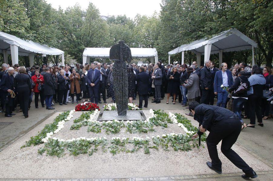 François Hollandeàla cérémonie d'hommage aux victimes du terrorisme aux Invalides, le 19 septembre 2016.