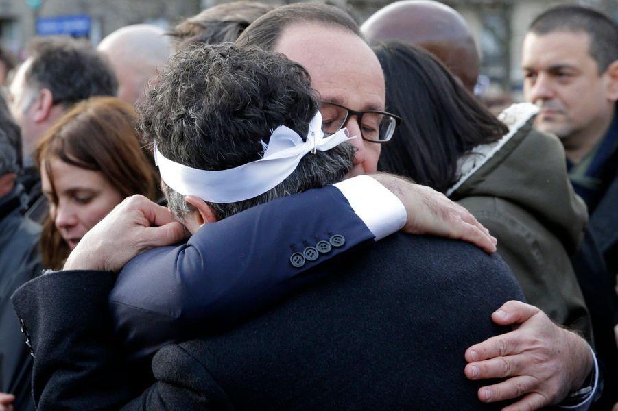 François Hollande et Patrick Pelloux