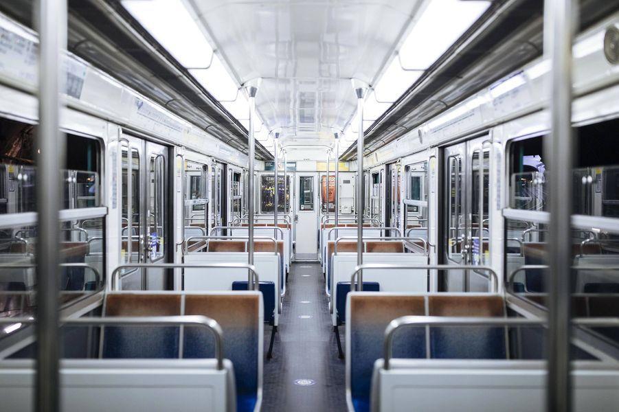 Un rame de métro, à Paris