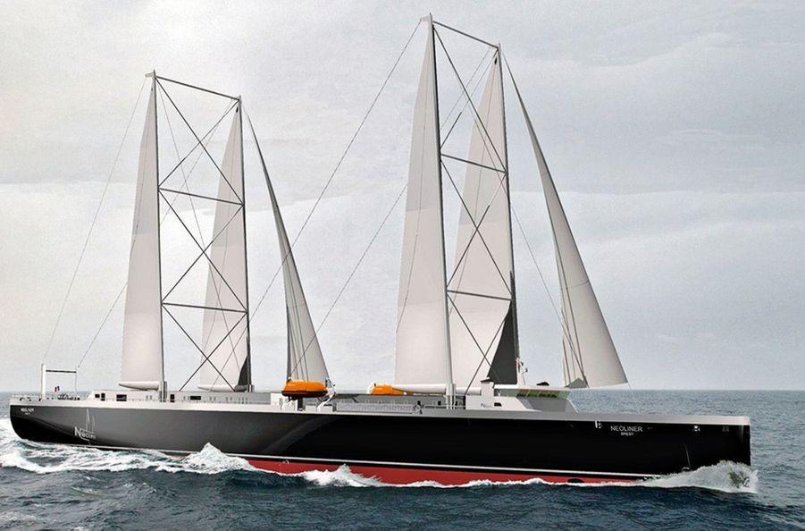 LE FRANÇAIS « NEOLINER » Un cargo de 120 mètres qui transporterait jusqu'à 230 conteneurs et naviguerait à 13-14 noeuds.