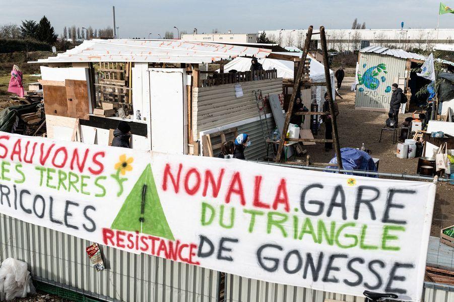 Dans la ZAD du Triangle de Gonesse (Val-d'Oise).