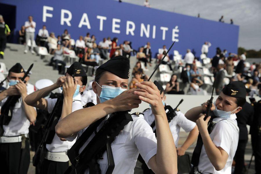 Photo prise lors du défilé du 14-Juillet.