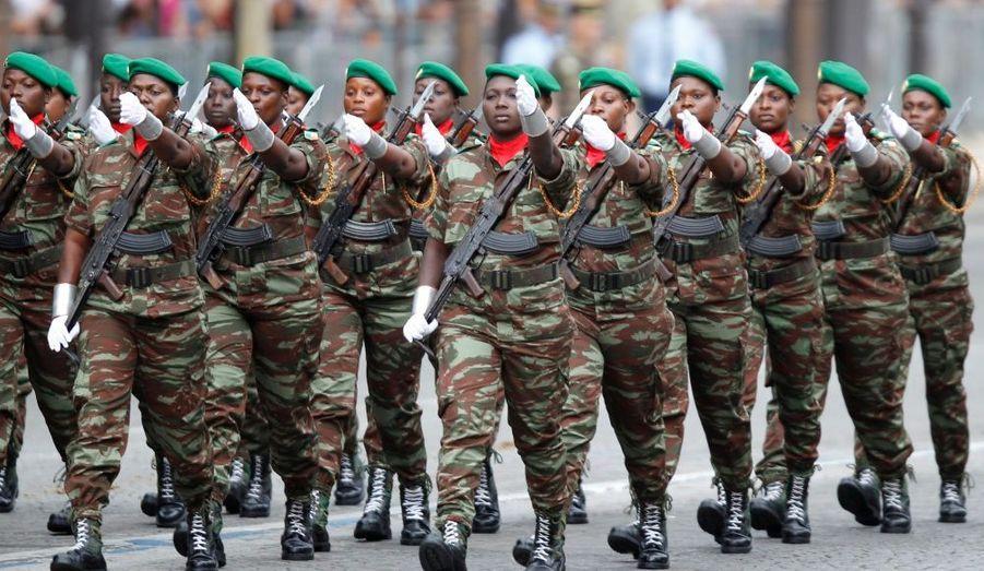 Un contingent militaire féminin béninois
