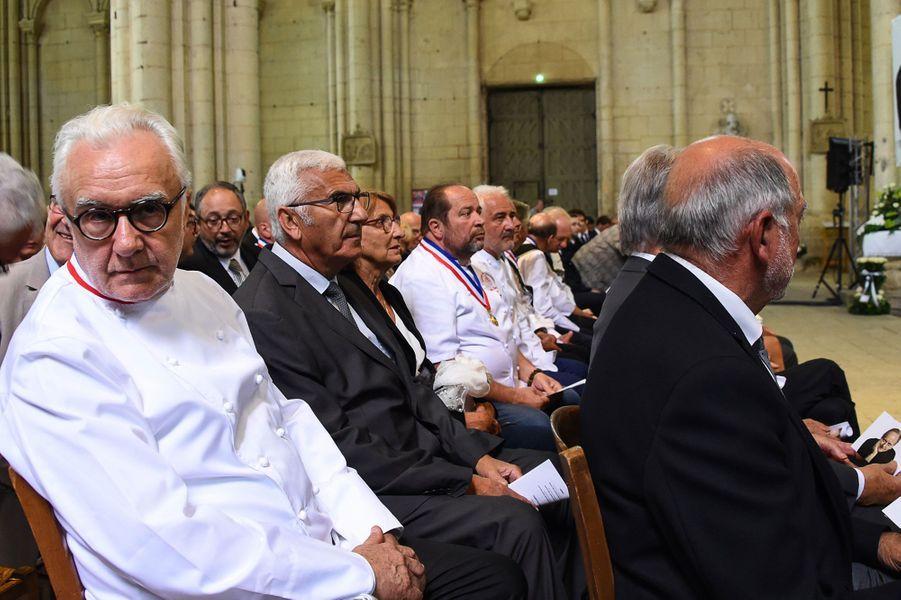 Alain Ducasse à la cérémonie hommage àJoël Robuchon à Poitiers vendredi