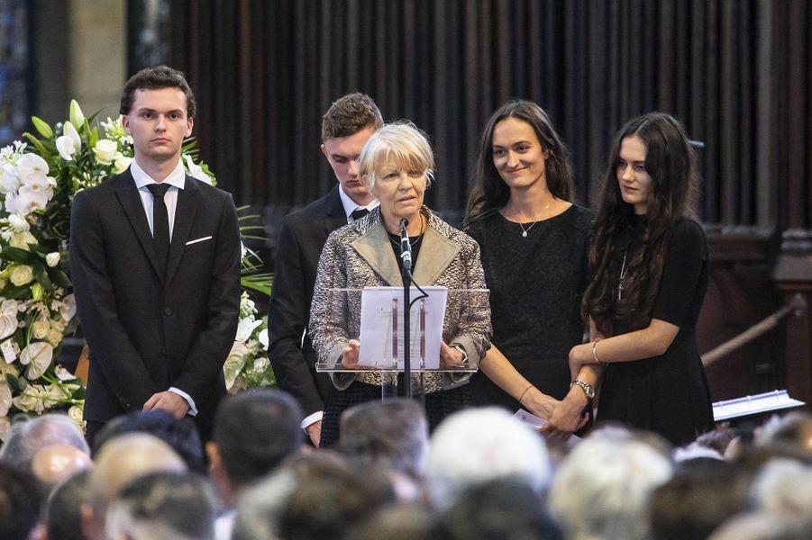 La famille deJoël Robuchon à Poitiers, vendredi