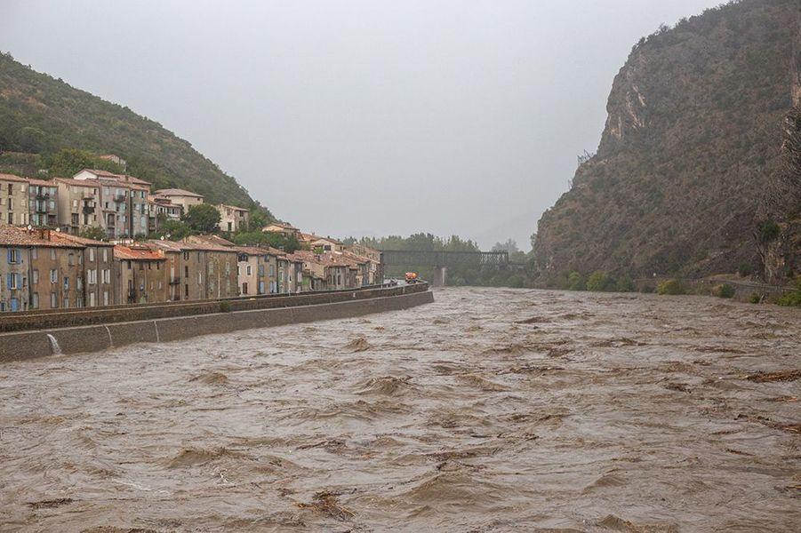 La ville d'Anduze a déjà les pieds dans l'eau.