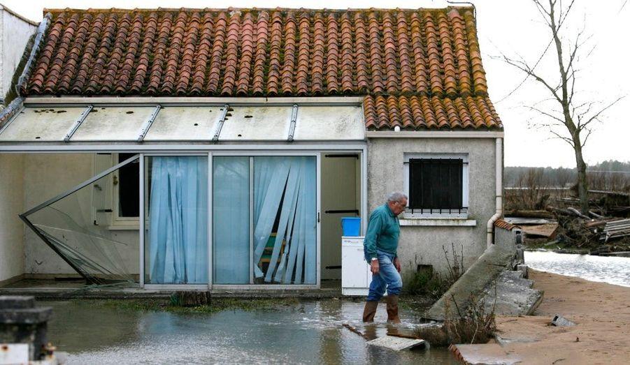 Des habitations ravagées