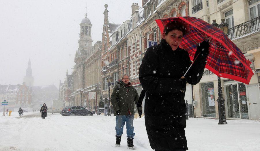 Mardi, un manteau neigeux recouvrait Cambrai, dans le Nord.
