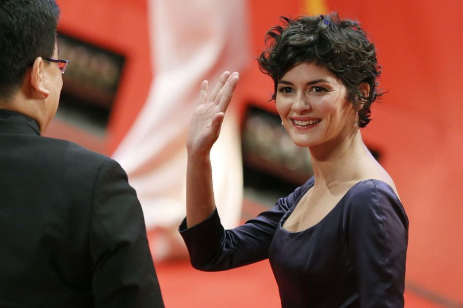 L'actrice Audrey Tautou (chevalier).