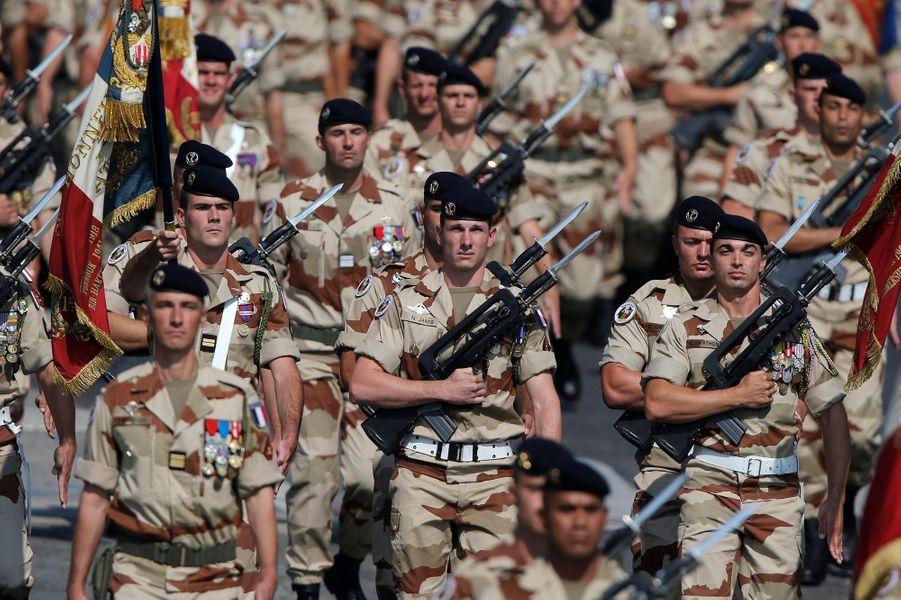 Des soldats de la Mission internationale de Soutien au Mali (MISMA) devenue MINUSMA