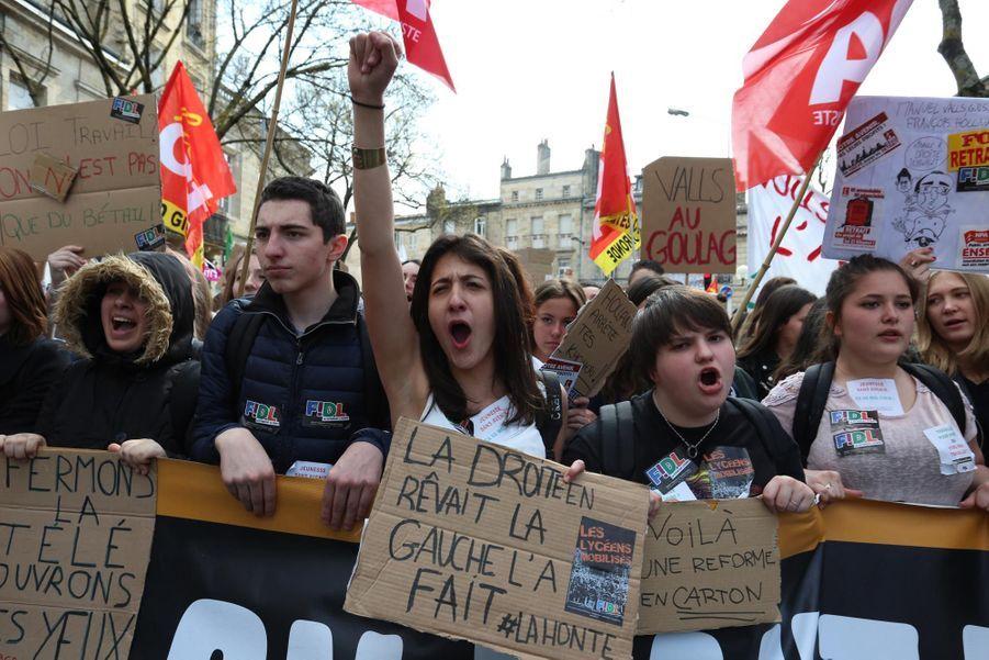 Manifestation à Bordeaux contre la loi Travail