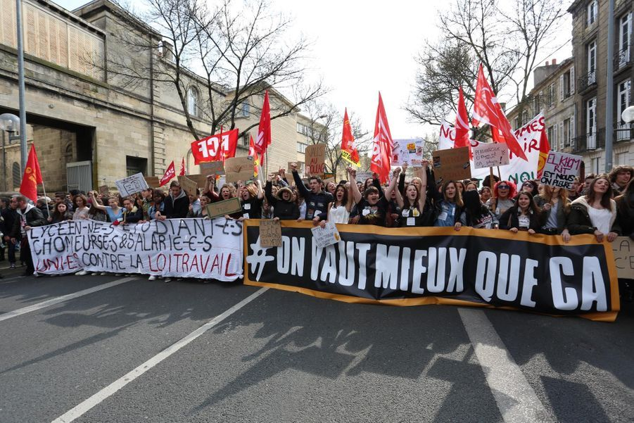 Manifestation à Bordeaux