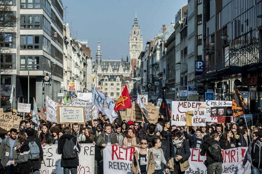 Manifestation à Lille contre la loi Travail