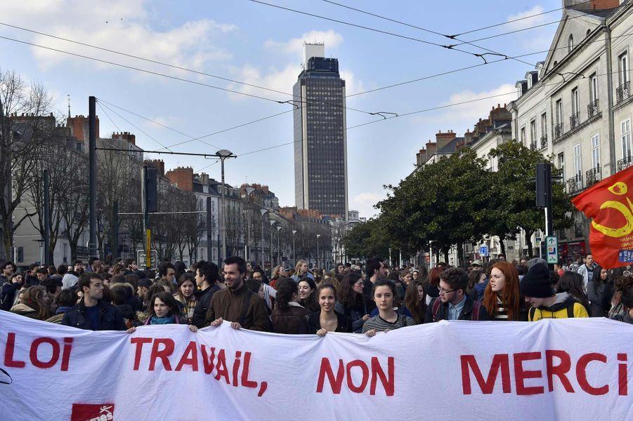 Manifestation à Nantes contre la loi Travail