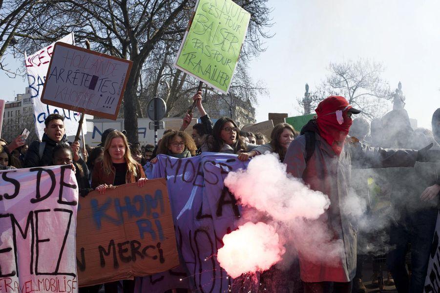 Manifestation à Paris contre la loi Travail