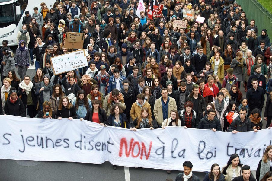 Manifestation à Toulouse contre la loi Travail