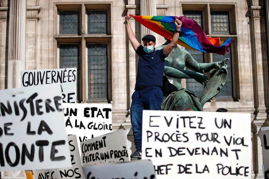 Manifestation à Paris, le 10 juillet 2020.