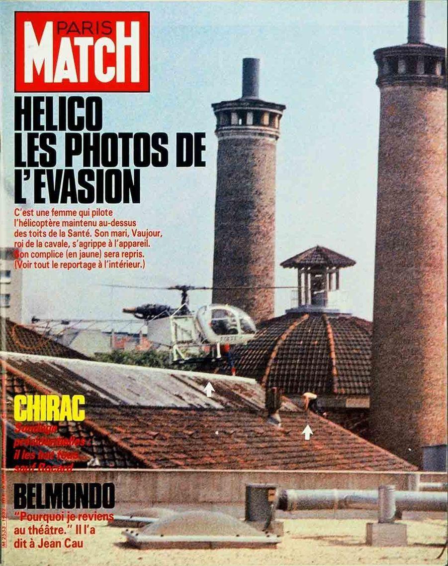 L'évasion de Michel Vaujour de la prison de la Santé en couverture de Paris Match (n°1932, 6 juin 1986)