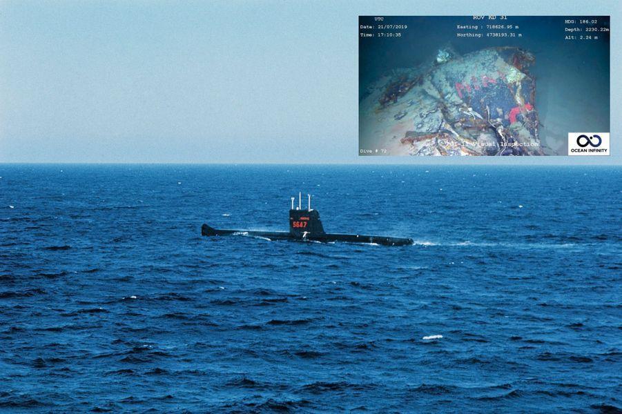 Ultime image avant le naufrage. Quelques mois plus tôt, notre photographe Pierre Vals filme la plongée de la « Minerve ».