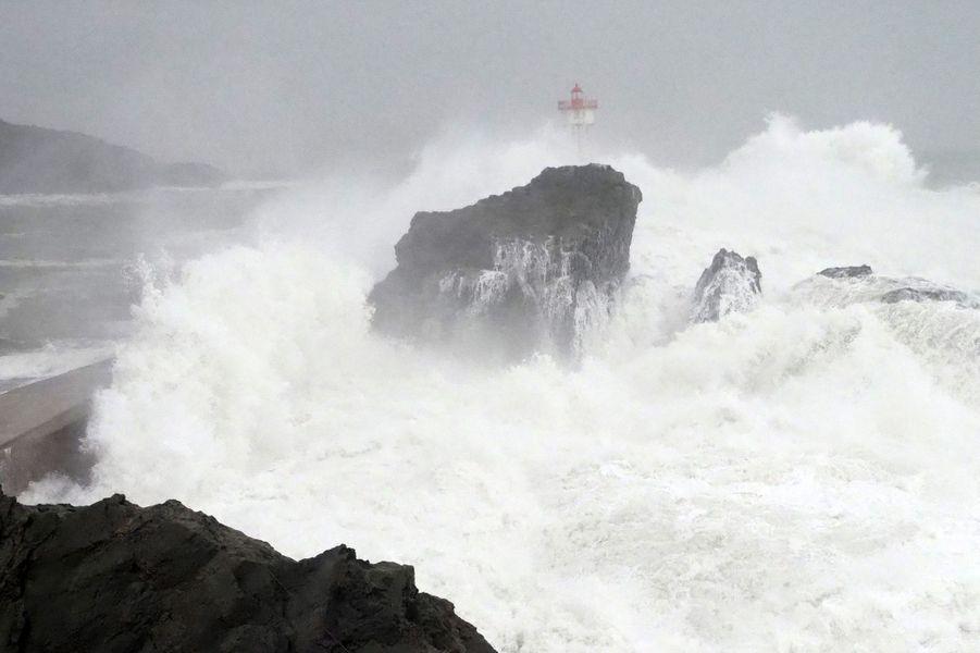 La mer déchaînée à Collioure