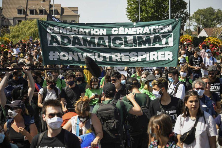 Grande marche àBeaumont-sur-Oise, le 18 juillet 2020.