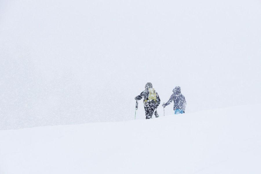 Ski de rando àla Clusaz, Haute Savoie.