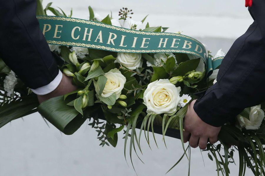 Hommage aux victimes des attentats deCharlie Hebdo et de l'Hyper Cacher.