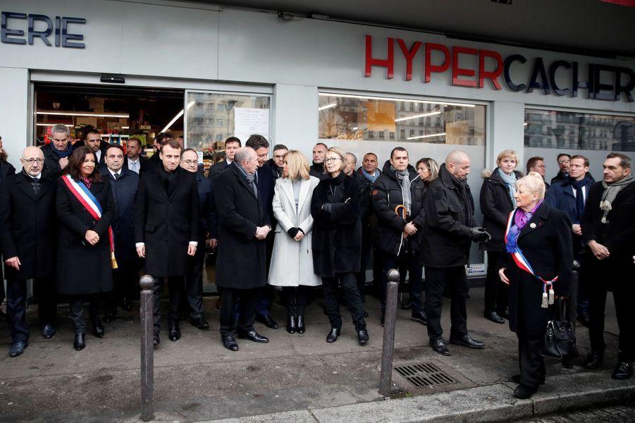 Hommage aux victimes de l'attentat de l'Hyper Cacher.