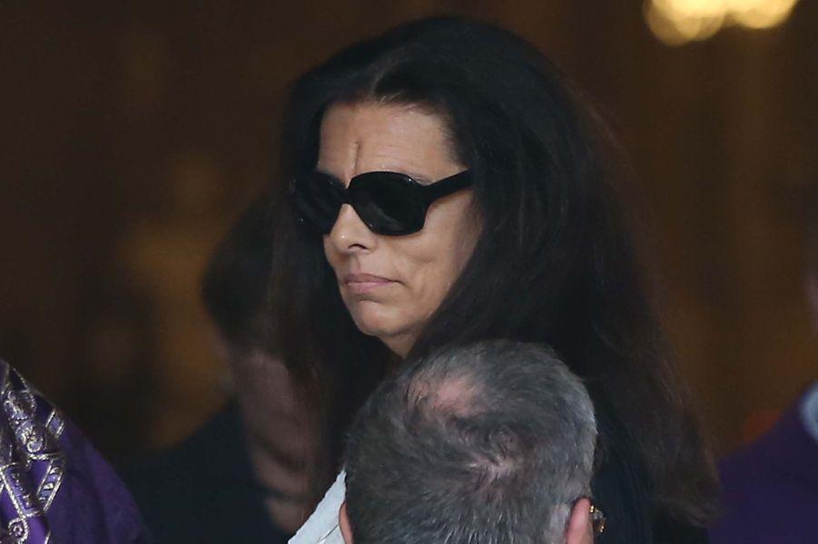 Françoise Bettencourt Meyers aux obsèques de Liliane Bettencourt.